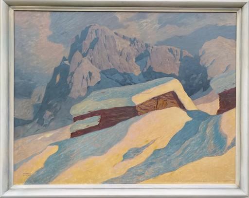Robert ZINNER - 绘画 - Langkofel und Plattkofel/Dolomiten