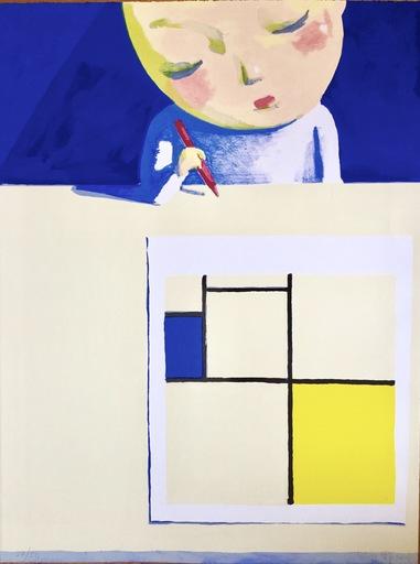 劉野 - 版画 -    She and Mondrian