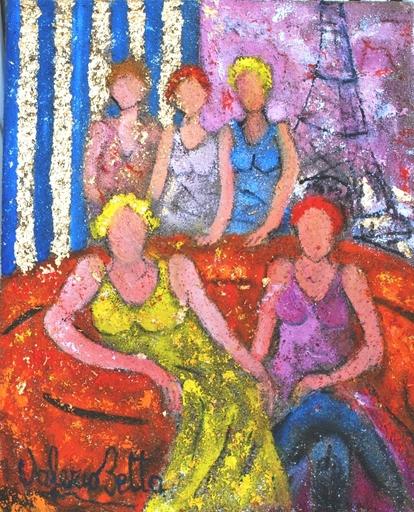 Valerio BETTA - Painting - Amiche a Parigi