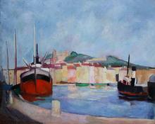 Edouard Léon Louis LEGRAND - Painting - Le port