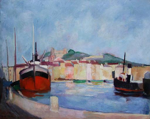 Edouard Léon Louis LEGRAND - Pintura - Le port