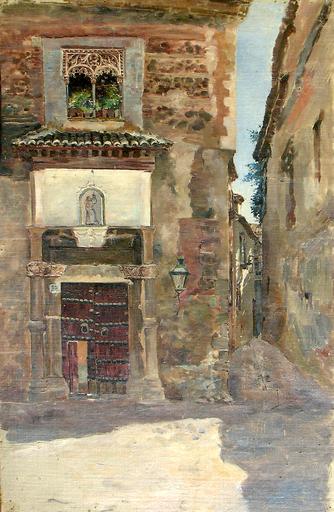 José VERA GONZALEZ - Painting -  Toledo -  Calle del Ángel 55