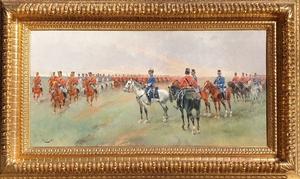 Josep CUSACHS I CUSACHS - Painting - caballería