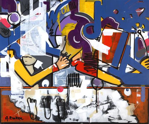 Ghazi BAKER - Gemälde - A la queuleuleu