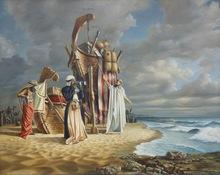 Yossi ROSENSTEIN - Peinture - Crossing the Red Sea