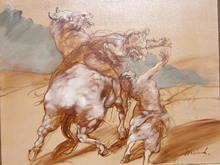 Claude WEISBUCH - Peinture - L'enlèvement raté
