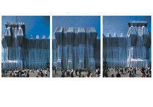 CHRISTO - Photography - Reichstag Westfassade Triptychon