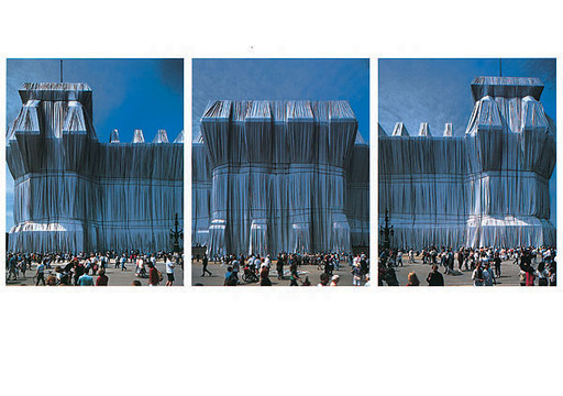 克里斯托 - 照片 - Reichstag Westfassade Triptychon