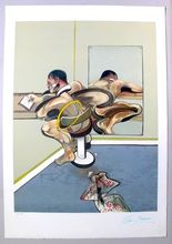 Francis BACON - Estampe-Multiple - Figure Writing Reflected In A Mirror