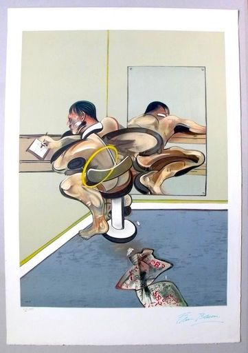 Francis BACON - Print-Multiple - Figure Writing Reflected In A Mirror