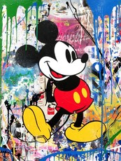 MR BRAINWASH - Peinture - Mickey