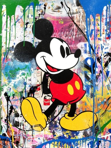 MR BRAINWASH - Pintura - Mickey