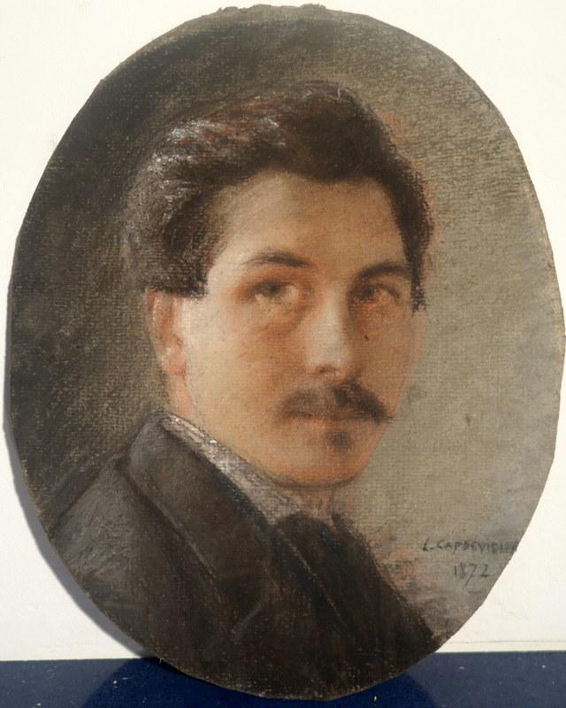 Louis CAPDEVIELLE - Drawing-Watercolor - Autoportrait