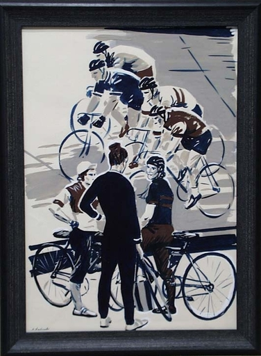 "Lev Michailovitsch KHAILOV - Dessin-Aquarelle - ""Cycle Racing"" by Lev Khailov"