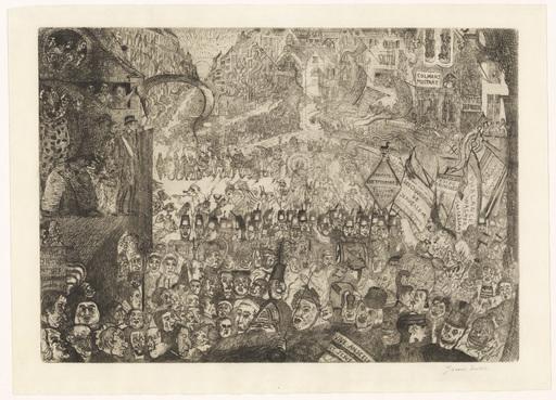 James ENSOR - Print-Multiple - L'entrée du Christ à Bruxelles.