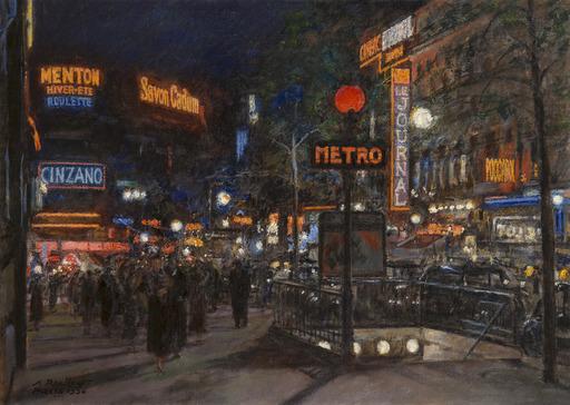 Aleksandr RUBCOV - Painting - Paris, Richelieu Drouot