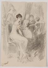 "Franz RUMPLER - 水彩作品 - ""Salon Scene"" by Franz Rumpler, late 19th century"