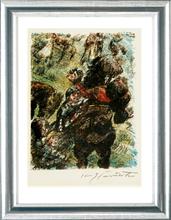 Lovis CORINTH - Grabado - Wilhelm Tell. Gesslers Tod, 1923