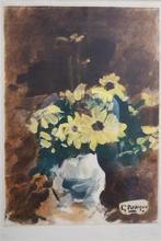 Georges BRAQUE - Estampe-Multiple - Vase de fleurs jaunes