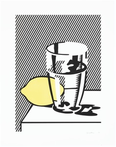 Roy LICHTENSTEIN - Stampa-Multiplo - Still life with lemon and glass