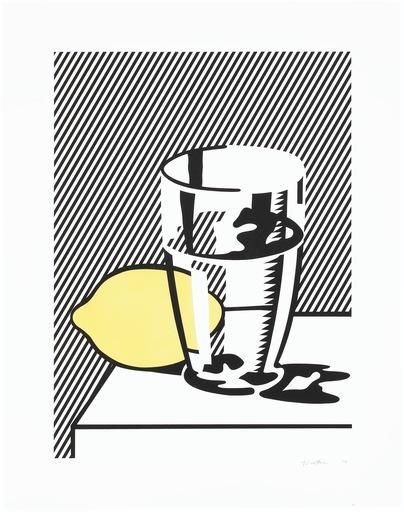 Roy LICHTENSTEIN - Estampe-Multiple - Still life with lemon and glass