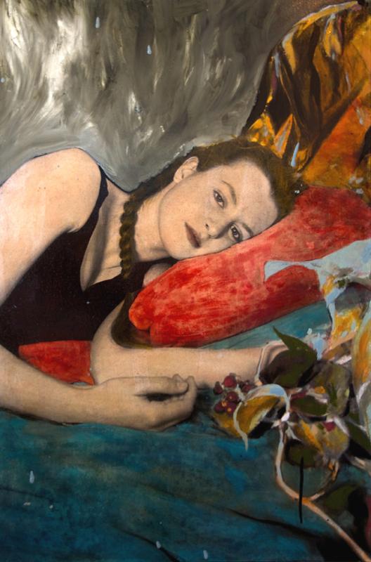 Ayline OLUKMAN - Painting - Girl with still life