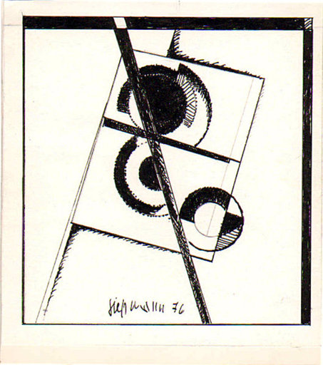 Heinrich SIEPMANN - Disegno Acquarello - o.T. (Konstruktivistische Komposition)
