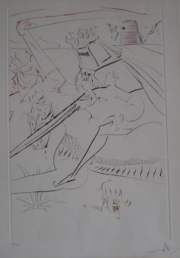 萨尔瓦多·达利 - 版画 - GRAVURE 1975 SIGNÉ CRAYON NUM/249 HANDSIGNED NUM/249 ETCHING