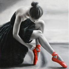 Annick BOUVATTIER - Pintura - Pointes rouges