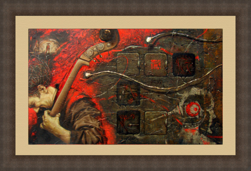 Maxim ORLITSKIY - 绘画 - Requiem for music