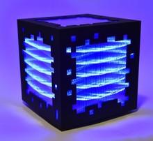 Miguel CHEVALIER - Grabado - mini voxels light blue