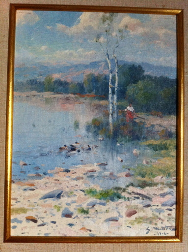 Segundo MATILLA MARINA - Pintura - Paisaje fluvial