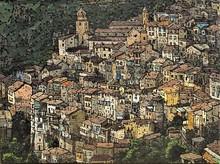 Olivier LAVOREL - Painting - Village Italie