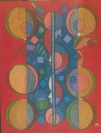 ROGA - Painting - Le Soleil des Indiens