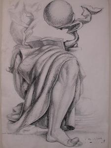 Ismaël DE LA SERNA - Drawing-Watercolor - Surrealistic Composition