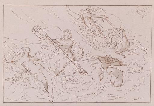 "Josef VON FÜHRICH - Disegno Acquarello - ""From the Cycle Ovid's Metamorphoses"", ca 1820"