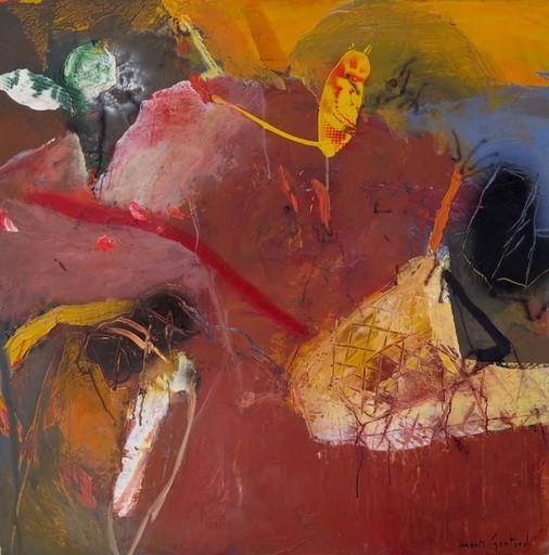 Moris GONTARD - Painting - lacs et montagne