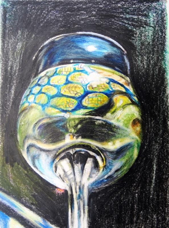 Susanne SCHOLZ - Drawing-Watercolor - In vino veritas XII