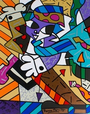 Romero BRITTO - Painting - Tie Dance