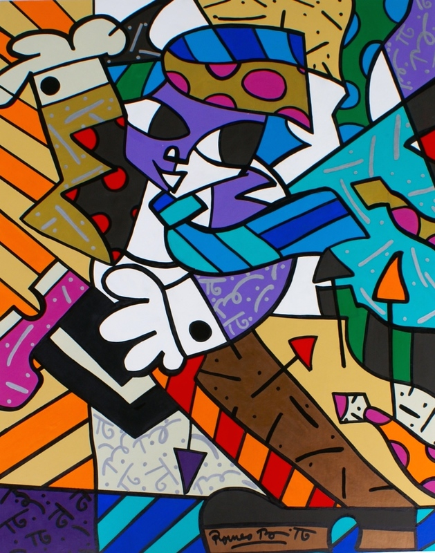 Romero BRITTO - Pittura - Tie Dance