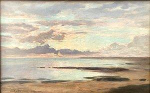 """Louis Auguste AUGUIN - Painting - """"LA CÔTE D'ARGENT"""""""