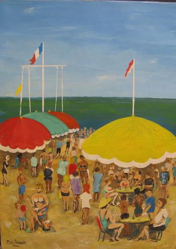 Marcel THIBAULT - Painting - Beach Fun