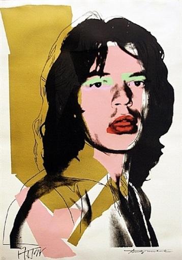Andy WARHOL - Stampa-Multiplo - Mick Jagger (FS II.143)