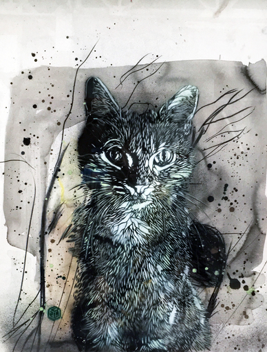 C215 - Peinture - Chat