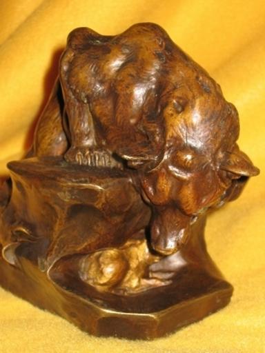 Charles PAILLET - Escultura - Ours et lapin