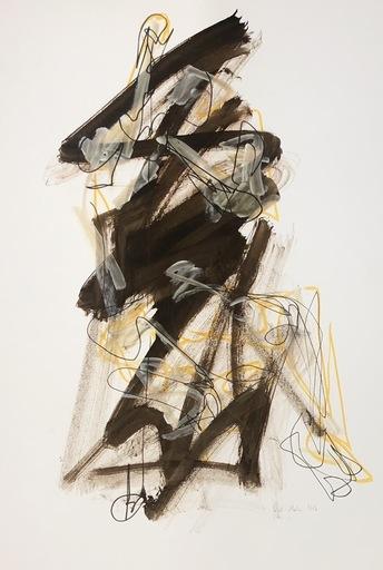 Nicole LEIDENFROST - Zeichnung Aquarell - Figur in braun