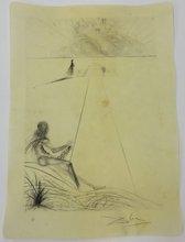 Salvador DALI (1904-1989) - L' arrivée de la mousson le bucher le bicéphale