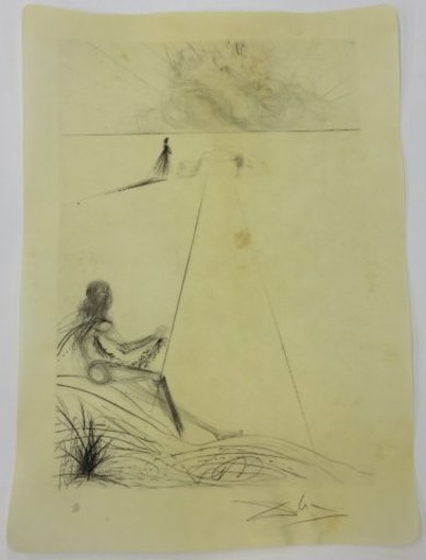 萨尔瓦多·达利 - 版画 - L' arrivée de la mousson le bucher le bicéphale