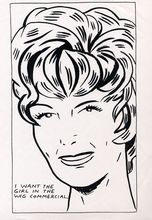Raymond PETTIBON - Estampe-Multiple - I Want To Be The Girl In The Wig Commercial,