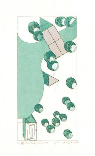 Dan GRAHAM - Grabado - Two-way Mirror Bridge and Pavillon